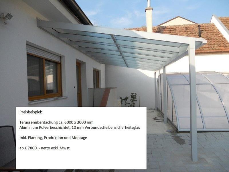 Preisbeispiel Terrassenüberdachung
